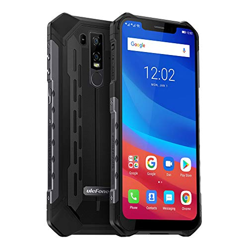 Unlocked Cell Phones Rugged Ulefone Armor 6, Android 8.1 IP68 Waterproof Dual Sim 21MP 6.2'' FHD 128GB 6GB RAM 5000mAh Battery +NFC+Face Unlock+GPS (Cell Phones Unlocked 21 Mp)