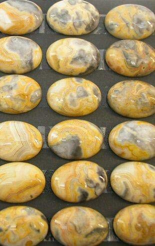 Crazy Lace Agate (Mex) 18x25mm Oval Cabochon (pkg of 4 Stones) Crazy Lace Agate Oval Pendant