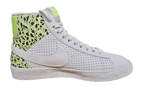 NIKE Womens Blazer mid PRM hi top Trainers 403729 Sneakers Shoes (US 5.5, White Ghost Green Pure Platinum 105) by NIKE (Image #1)