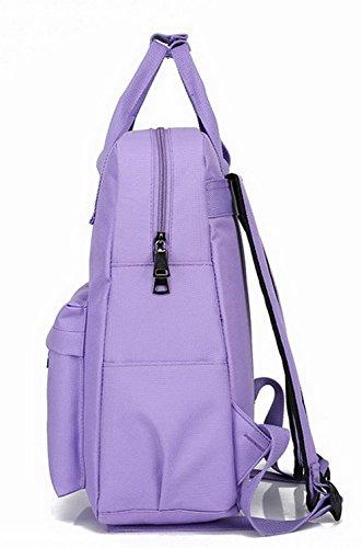 Violet Sacs Mode de Daypacks à Fleurs FBUFBD181048 dos Femme AllhqFashion Daypack Nylon randonnée 5Eqg7Tc