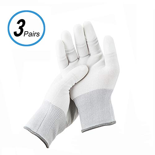 JJC Polyester Anti-Static Cleaning Gloves for Cleaning Camera Lens CCD CMOS Sensor or Other Precision Instruments with Free Size -3 Pair