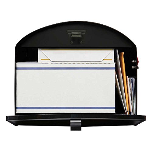 Gibraltar Mailboxes Storehouse Extra Large Capacity Galvanized Steel Black, Post-Mount Mailbox, SH400B01 by Gibraltar Mailboxes (Image #1)