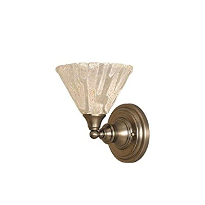 Wall Sconce w 8 in. Italian Ice Glass Shade