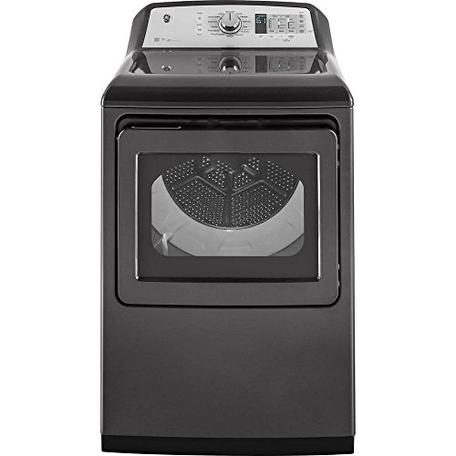 GE GTD75ECPLDG 27 Inch Smart Electric Dryer with 7.4 cu. ft. Capacity, in Gray