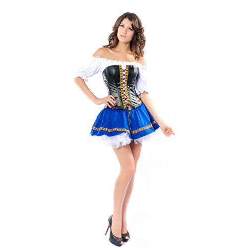 Sexy Captains Treasure Caribbean Pirate/Eye Candy/Swashbuckler Halloween Fancy Dress Costume