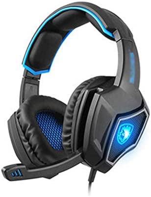 GSUMMER 7.1 USB Gaming Headset,Game Dedicated Headphones 7.1-Channel Gaming CF Cable USB Headphones-BlackBlue