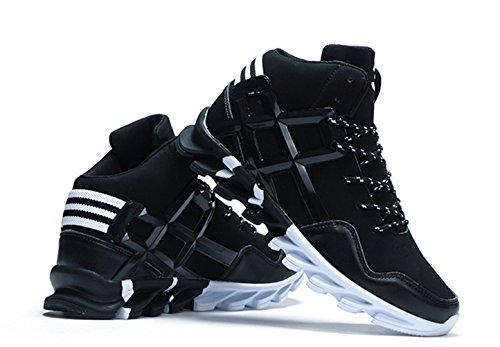 NIGHT-GRING Unisexe Camouflage Chaussures Tactique Sports de Plein Air Chaussures de Course Bottes de Sécurité Haut Haut Militaire Camping Trekking 36-46 Noir Y5SDHMts