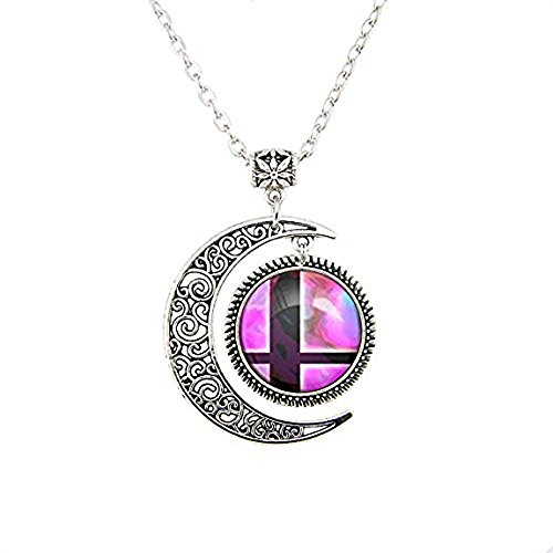Price comparison product image Moon Jewelry Super Smash Bros Ball Pink and Black Pendant Super Smash Bros Ball pendant necklace gifts