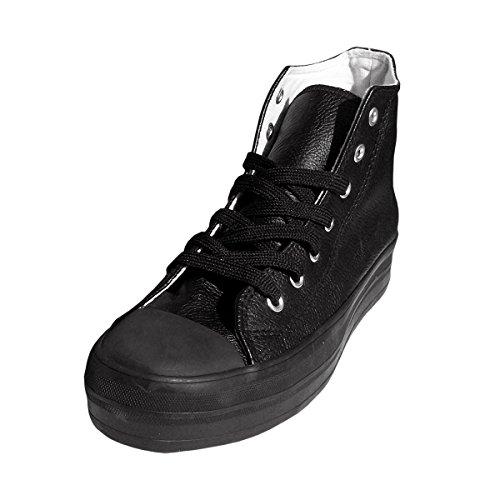3 In Plateau Alte Wave Scarpe Franky Similpelle Raise Modello Di taglia Con Nero 5 Cm Store 38 Sneakers Media Rxxqnw45v