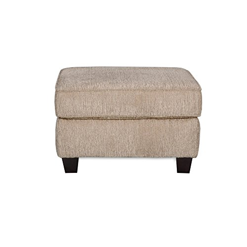 "Council Pewter Living Room Ottoman with Upholstered Fabric | Contemporary Casual Design, Size of 29""x25""x18.5"" Assembled"