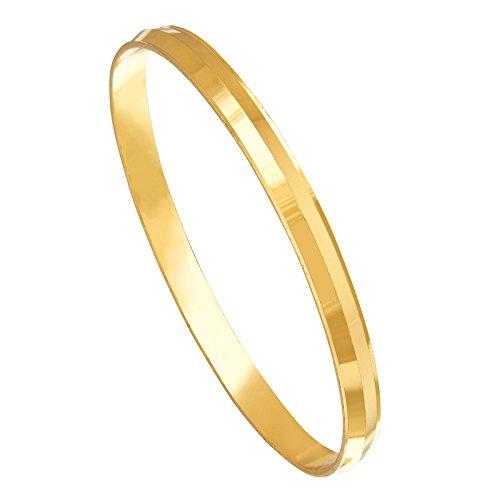Buy Shining Jewel 22k Gold Plated Punjabi Sikh Kada For Men