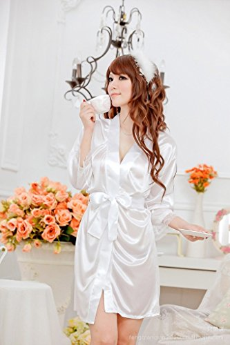 Ascentan(TM)2015 New Fashion Satin Sexy Lingerie Costumes Pajamas,Sexy Underwear Sleepwear Robe + (Fashion Costume Jewelry Suppliers)