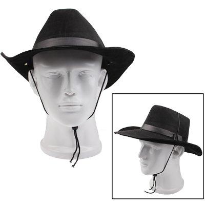 Nuevo estilo Pggpo Indiana Jones Fedora sombrero de vaquero (negro) Safari   Amazon.es  Hogar 1bdccdaedd2