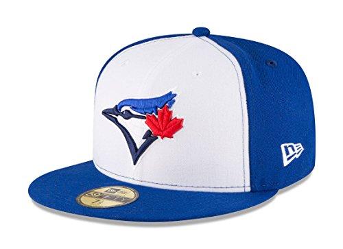 New Era 59Fifty Hat Toronto Blue Jays Current Season Alternate White/Blue Fitted Cap (7 7/8)