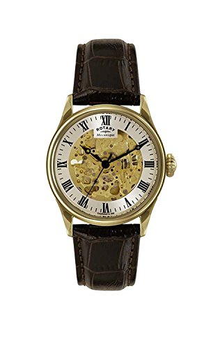 (Rotary Men's GS02941/03 Greenwich Analog Display Automatic Self Wind Black)