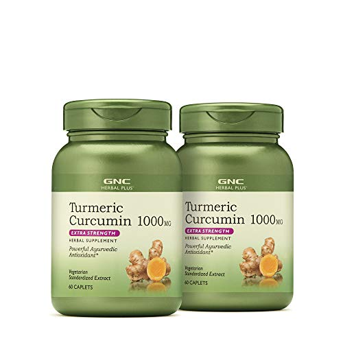 GNC Herbal Plus GNC Herbal Plus Turmeric Curcumin 1000mg Extra Strength – Twin Pack