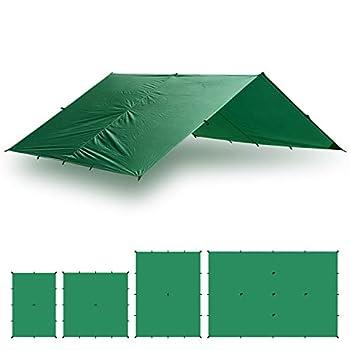 Image of Aqua Quest Guide Tarp - 100% Waterproof Ultralight Ripstop SilNylon Backpacking Rain Fly - 10x7, 10x10, 13x10, 20x13 Green or Olive Drab Tent Tarps