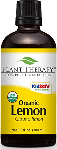 Plant Therapy Lemon Organic Essential Oil 100 mL (3.3 oz) 100% Pure, Undiluted, Therapeutic Grade