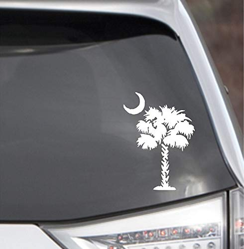 POPCultureSigns Palmetto Tree Decal Car Window South Carolina Palm Beach Moon SC Sticker
