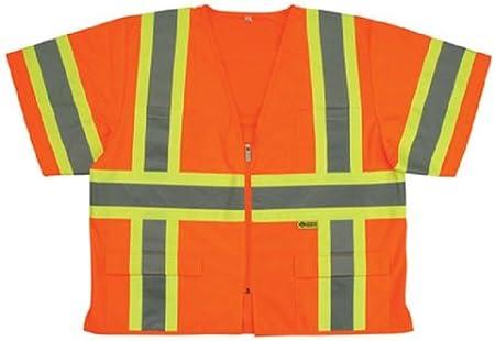 Orange X-Large Safety Flag Co Safety Flag C2ANSSV-XL Class 2 Safety Vest