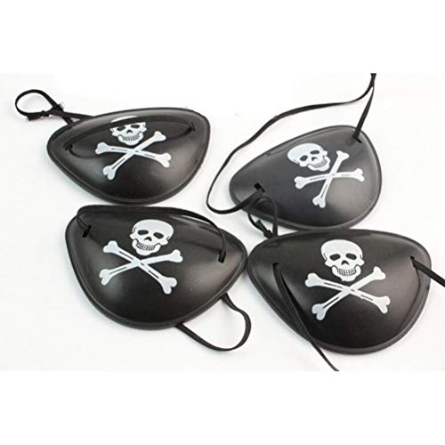 Party Diy Decorations - Plastic Pirate Eye Patch Black Party Favors Bag Skull Crossbone Birthday Halloween Costume Kids Toy - Decorations Party Party Decorations Black Stripe Skull Skeleton Plas -