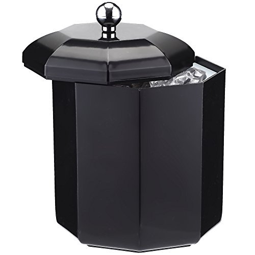 SMETA 2 Liter Ice Buckets Insulated with Lids for Parties - Champagne Bucket, Black