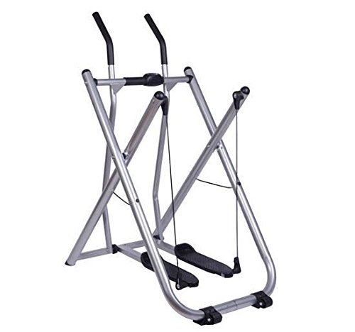 Online Gym Shop CB15882 Folding Exercise Fitness Glider Machine Ellipticals Sports Trainer with Pedometer