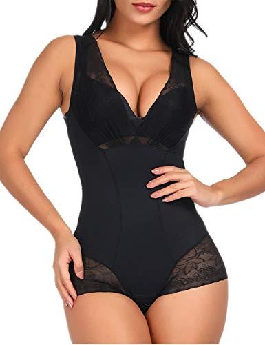 Shaper Lace - Women Seamless Firm Control Shapewear Bodysuit Body Shaper Lace Butt Lifter Waist Cincher Body Shaper Black