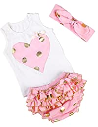 Messy Code Baby Girls Outfit Sweet Gold polka dot Baby Briefs Set