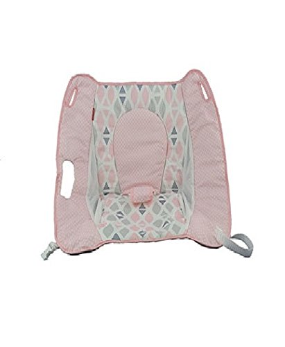 Fisher Price Rock N' Play Sleeper Replacement Pad Cushion (DTG90 Pink Gray PAD)