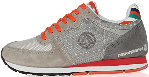 Paperplanes-1143 Moda Para Mujer Casual Suede Mesh Tall Up Sneakers Zapatos 1143-gris
