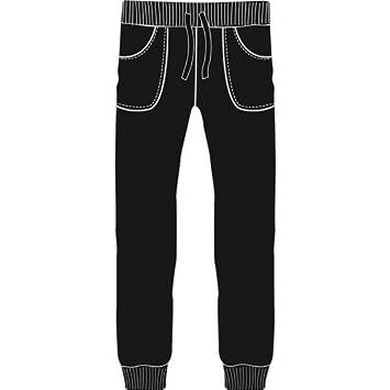 Pantalón de algodón tipo Chándal Niña Negro 8 años: Amazon.es: Bebé