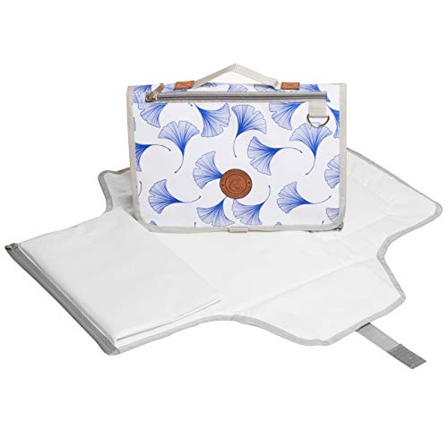 Waterproof Portable Baby Diaper Changing Pad - Lightweight XL Infant & Newborn Change Table Mat - Compact Travel Diapers Clutch with Pockets - Soft Padding & Thick Foam Pillow - Baby Shower Present