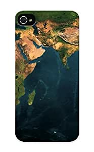 Diy Yourself Awesome World Map Dual Monitor Flip case cover With Fashion Design For Iphone 5/5s As New Year's Day's 8rGWxg3iMLS Gift