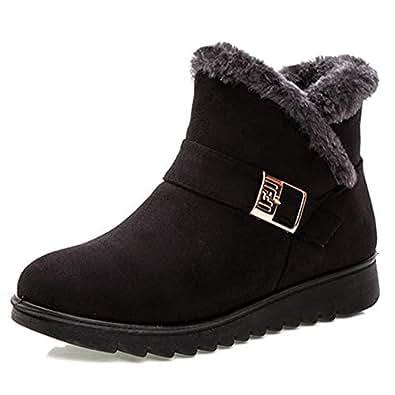 Amazon.com | T-JULY Women Fashion Warm Snow Boots Ankle