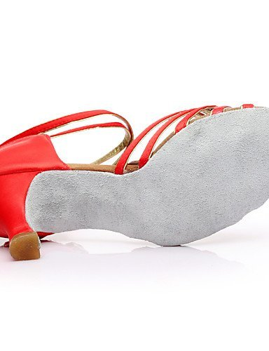 Multi Customizable Shoes Red Fuchsia fuchsia Customized Heel Latin Other Silk Women's Dance Black color ShangYi Pink PqwxBpgg