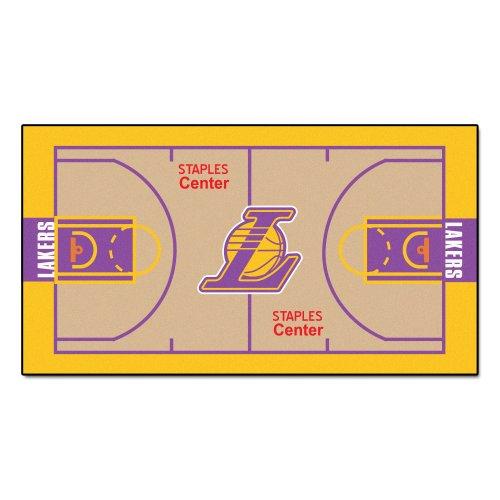 FANMATS NBA Los Angeles Lakers Nylon Face NBA Court - Lakers Los Court Angeles