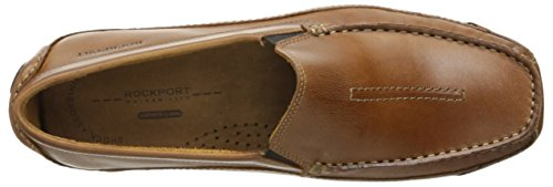 Rockport Mens Luxury Cruise Center Stitch Slip-On Loafer Tan