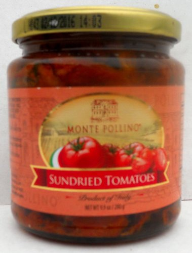 Monte Pollino (6 pack) Sundried Tomatoes in Oil 9.9oz jars from Italy