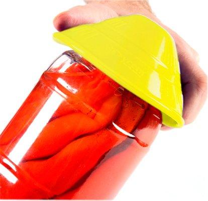 Dycem Non-Slip Cone-Shaped Jar Opener, 4-1/2'' Diameter, Yellow