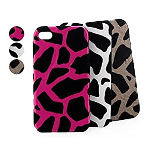 Leopard Print Polycarbonate Case for iPhone 4 / 4S --- COLOR:White