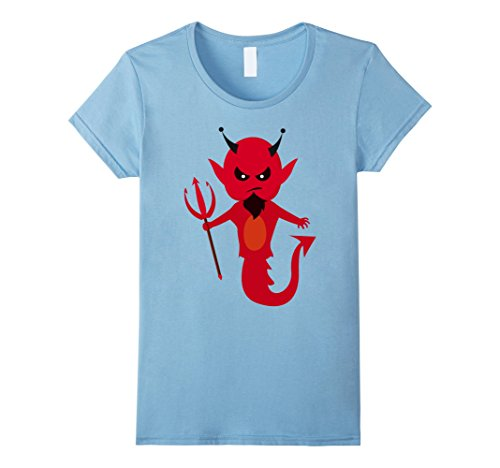 Satan Costume Baby (Womens Scary Halloween Satan Tshirt Cute Costume For Halloween 2017 Large Baby)