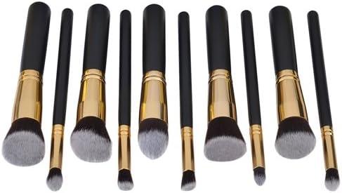 Pincel de maquillaje, Negro / Oro [10 Pack]: Amazon.es: Hogar