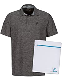 Men's Dry Fit Golf Polo Shirt, Athletic Short-Sleeve Polo Golf Shirts (Laundry Bag Included)