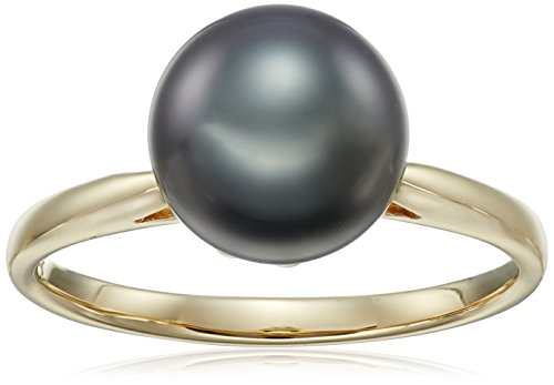 Cultured-Tahitian-Pearl-Ring-With-Gold-Setting-Size-7-9-10mm