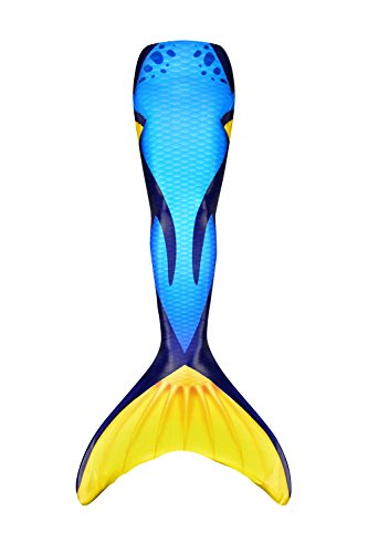 Fin Fun Mermaid Tail, Reinforced Tips, NO Monofin, Blue Tang, Adult XS]()