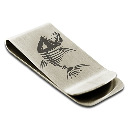 Clip Stainless Card Tioneer Steel Money Credit Vicious Engraved Hellfish Holder Silver xqp6w1Yp