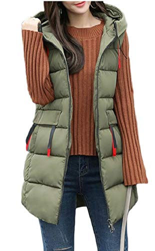 Vest Winter Puffer Quilted security Down Mid Women's Jackets 1 Length axwB506q