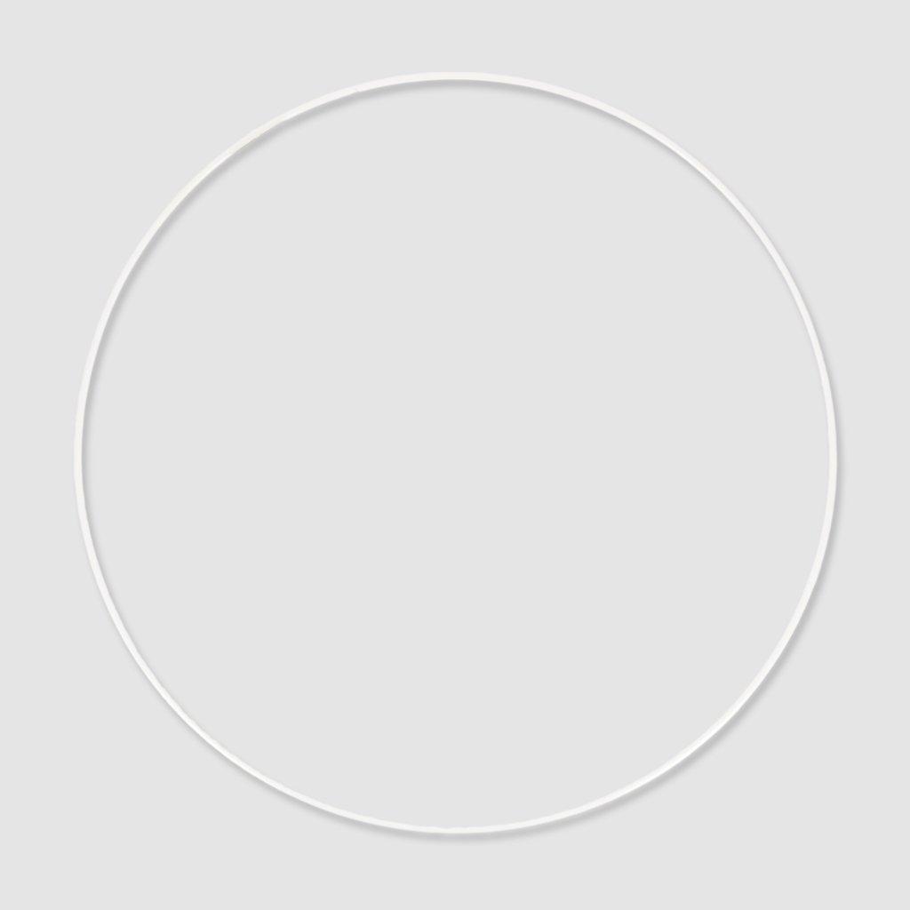 Perles & Co Cerchio metallo 30 cm Bianco x1