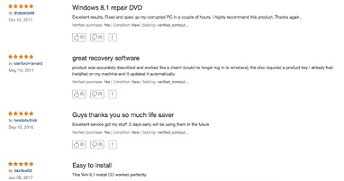 Windows 8 1 Reinstall Recovery Repair Reset Boot Fix Install Disk 64 & 32  bit Systems - All Brands (Dell, HP, etc) w/Printed Instructions & Support